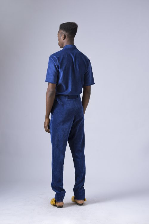 Belted Slim Fit Pants With Buckle Detail