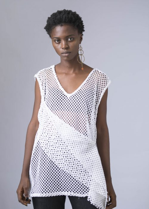 VEST WITH DRAPED DETAILING