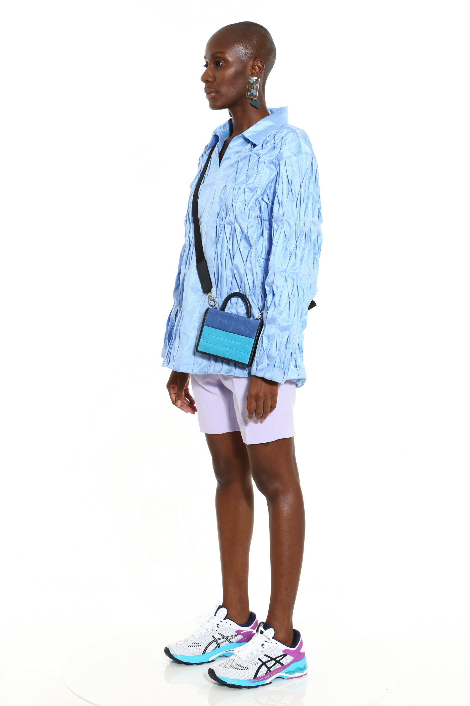 Tobi diamond pleat oversized polo
